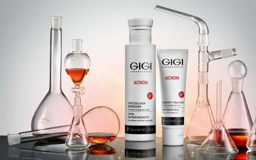 GIGI ACNON a professional line of products for acne treatment.
